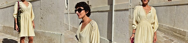 Maria-Paola Spinelli. Street style in Venice during the 72th Mostra