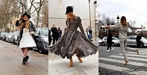 Cristina Bazam, Anna dello Russo and Chiara Ferragni dancing in the streets