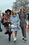 Anna Dello Russo, Chiara Ferragni and Candela Novembre, Chanel, March 2015