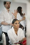 Model Cindy Bruna, Backstage of Guo Pei