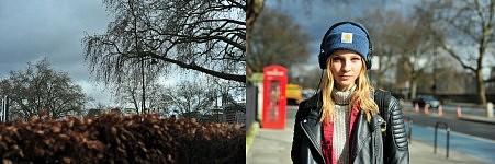 Model Kristie Brittain, London