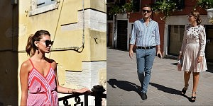 Street style in Venice during the 72th Mostra