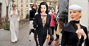 Glamour with Rose Mc Gowan, Dita Von Teese and Tatiana, January 2015