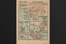 Carte géographique de colonies africaines tirée d'un livre scolaire avant les années 60 au Portugal