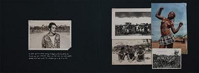 Les pages de l'album illustrant le service militaire du fils, en Angola, alors en guerre pour son Indépendance