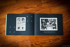 """Page de passeport et soirée Fado dans le livre """"Accepte-le, Un Album portugais 1919-1979"""" de Céline Gaille"""