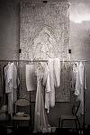 Fitting room of Ulyana Sergeenko's Haute-couture runway show in the Lycée Henri IV.Salle d'essayage des créations Haute-Couture de la créatrice russe Ulyana Sergeenko au Lycée Henri IV.