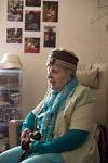 Lucienne talks about her memories and her family in her bedroom surrounded by her family pictures.Lucienne parle de ses souvenirs et de sa famille dans sa chambre d'ehpad décorée de ses photos de famille.