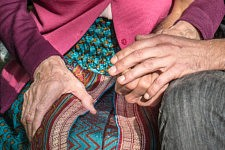 The importance of the touch in a retirement home.