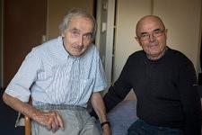 Portrait of André and Serge, old friends.Portrait d'André et Serge, deux vieux amis.