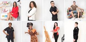 Création des portraits des 25 collaborateurs pour le Mur des Talents exposés dans le salon d'accueil de l'hôtel