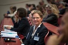 Stella Reiter-Theil (Director of Department for Medical and Health Ethics, Medical Faculty, Basel) in the public during the ICCEC 2014, Paris. Stella Reiter-Theil (Directrice du département d'ethique médicale et de la santé, Université de Bâle.) dans le public, ICCEC 2014, Paris.