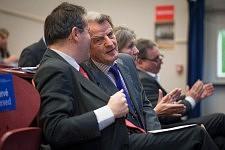 Bernard Kouchner, former french Health Minister and Martin Hirsch, director of APHP during the ICCEC 2014, Paris. Bernard Kouchner, ancien ministre de la santé et Martin Hirsch, président de l'APHP à l'ICCEC 2014, Paris.