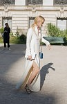 Petra Winter, chief editor for Madame Germany, going to the Giambattista Valli runway show at Petit-Palais, July 4th 2017. Petra Winter, rédactrice en chef de Madame Germany, en route pour le défilé Giambattista Valli au Petit-Palais, le 4 juillet 2017.