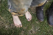 Tattooed feet. Pieds tattoués.