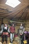 Visit of the eco village Ecolectif to discover a few yurts and straw-clay realizations. Visite de l'éco hameau Ecolectif et découverte de quelques yourtes privatives et réalisation en terre-paille.