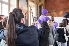 Selfie avant le studio photo sur le Stand L'Oréal