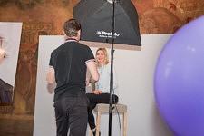Studio photo après la coiffure et le maquillage sur le Stand L'Oréal.