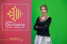 Nadia Pellefigue, vice-presidente of the Region Occitanie Pyrénées Méditerranée before the conference of the Digital Farm at Regal Convention 2017, Toulouse. Nadia Pellefigue, vice-présidente de la Region Occitanie Pyrénées Méditerranée  avant la Table ronde de la Ferme Digitale au Salon Regal 2017, le 14 décembre 2017.