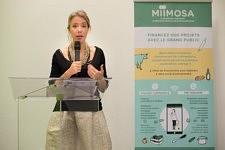 Nadia Pellefigue, vice-presidente of the Region Occitanie Pyrénées Méditerranée speaking. Nadia Pellefigue, vice-présidente de la Région Occitanie Pyrénées Méditerranée pendant son intervention.