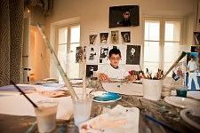 Atelier Peinture, Ateliers d'été de l'Association La Source au Centquatre, à Paris, en 2011.