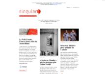 Page d'accueil du site Singular's