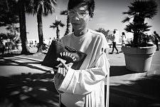 Stylist Killian Yang on the Croisette, during the Cannes Film Festival 2017. Le Styliste Killian Yang sur la Croisette, pendant le Festival de Cannes 2017.