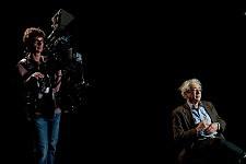 Yves Michaux, Steadycammer et Luc Boltansky sur le tournage de Notre Monde de Thomas Lacoste, 2012.