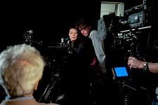 Thomas Lacoste et Marianne Denicourt pendant la prise de Toni Negri, Notre Monde, 2012.