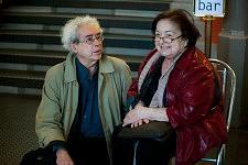 Luc Boltansky et Françoise Héritier à la Maison des Métallos lors de la soirée de Notre Monde, 2012.