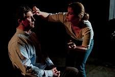 Eric Fassin, sociologue et Anne Fassin sur le tournage de Notre Monde de Thomas Lacoste, 2012.