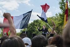 Jean-Luc Mélenchon speaking about freedom during his meeting in Toulouse.Jean-Luc Mélenchon tenant son discours sur la liberté durant son meeting à Toulouse.