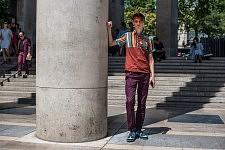 Fashion week scene before a fashion show outside le Palais de Tokyo, June 23, 2017. Scène de rue pendant la semaine de la mode Homme, avant un défilé, devant le Palais de Tokyo, le 23 juin 2017.