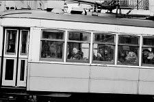 Visage dans le tramway 15, 2014.