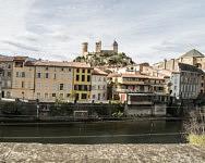 Vue de Foix depuis l'Instep où Dalanda apprend le Français, Octobre 2019.