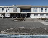 Parvis de la Maternité de Saint-Girons, Février 2020
