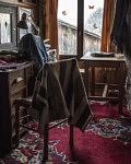 Atelier textile bio de Véronika, ferme du Cap de la Goutte, Mars 2020