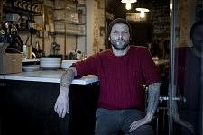 Pierre Jancou, créateur du bistrot Vivant, Paris Xe, novembre 2013.