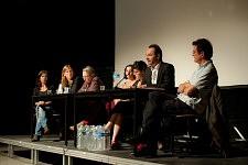 Christophe Mileschi pendant la Journée sur l'exclusion des Roms et contre le racisme d'état à la Maison de l'Arbre à Montreuil, septembre 2010.