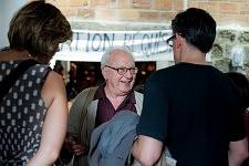 Etienne Balibar pendant la Journée sur l'exclusion des Roms et contre le racisme d'état à la Maison de l'Arbre à Montreuil, septembre 2010.