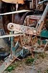 Detail of the vintage machine, Saint-Martin Cantalès, 2012. Détail de la vieille machine, Saint-Martin Cantalès, 2012.