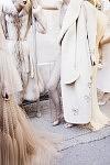 Models ready to go on the catwalk for the Haute-Couture show of the Russian fashion designer Ulyana Sergeenko, at the Lycée Henri IV, July 4th 2017 in Paris. Les Mannequins sur le point de défiler avec les créations Haute-Couture de la créatrice de mode russe Ulyana Sergeenko au Lycée Henri IV, le 4 juillet 2017 à Paris.